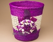 "Handmade Planter Flower Basket 9.5"" -Purple  (em7)"