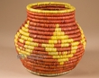 "Handwoven Olla Style Palm Basket 6.75""  (mt2)"