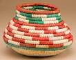 "Handwoven Olla Style Palm Basket 5.5""  (mt2)"