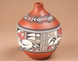 """Hand Painted Clay Indian Vase 9.75"""" -Hopi  (p240)"""