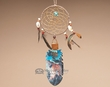 "Indian Cedar Feather Dreamcatcher 11"" -Mountain Man  (105)"