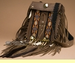 "Pueblo Indian Medicine Bag 8x10"" -Tigua  (b12)"