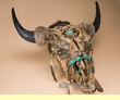 Indian Dreamcatcher Buffalo Skull 24x27 -Creek  (ps91)