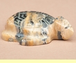 Indian Hand Carved Stone Zuni Fetish -Turtle  (f42)