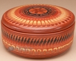 "Indian Navajo Pottery Bowl w/ Lid 5""  -Hand Etched  (p320)"