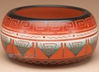 Indian Pottery Etched Clay Bowl 3.25 -Navajo  (p328)