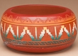 "Indian Pottery Etched Clay Bowl 6x3"" -Navajo  (p325)"