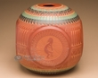 "Indian Pottery Etched Vase 10"" (p347) -CLEARANCE"