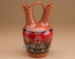 "Sioux Indian Wedding Vase 8.25"" -Lakota Red  (p211)"
