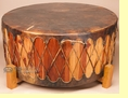 "Cedar Powwow Drum & Base 42""x18"" -Damage Clearance"