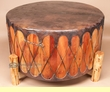 "Cedar Powwow Drum & Base 36""x18"" -Damage Clearance"
