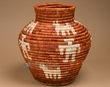 "Indian Style Coiled Olla Basket 13.5""  (a3)"