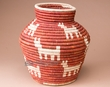 "Indian Style Coiled Olla Basket 12.5""  (a3)"