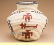 "Indian Style Coiled Olla Basket 11""  (a3)"