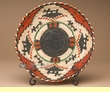 """Indian Style Hand Coiled Basket & Stand 12""""  (em1)"""