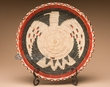 "Indian Style Hand Coiled Basket & Stand 12"" -Eagle  (em1)"
