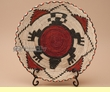 "Indian Style Hand Coiled Basket & Stand 12""  (EM28)"