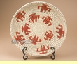 "Indian Style Hand Coiled Basket & Stand 12""   (kb8)"