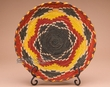 "Indian Style Hand Coiled Basket & Stand 12""   (a39)"