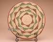 """Indian Style Hand Coiled Basket & Stand 12""""   (a39)"""