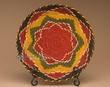 "Indian Style Hand Coiled Basket & Stand 12""  (EM16)"