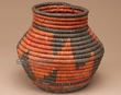 "Indian Style Hand Woven Olla Basket 6.75""  (b11)"