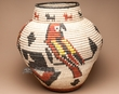 Indian Style Southwest Basket 22x22.5 -Macaw  (a57)