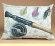 Indoor Outdoor Climaweave Pillow 18x13 -Rod & Reel  (p36)