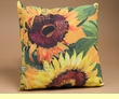 "Indoor Outdoor Climaweave Pillow 18"" -Sunflowers"