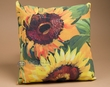"Indoor Outdoor Climaweave Pillow 20"" -Sunflowers"