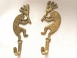 "Iron Art Bronze Wall Hook 5"" -Kokopelli  (Pair)"