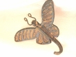"Iron Art Cast Wall Hook 5"" -Butterfly"