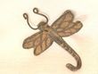 "Iron Art Cast Wall Hook 5"" -Dragonfly"