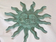 Iron Art Faux Copper Sun Face 7""