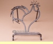 Rustic Iron Art Cook Book Holder -Rooster