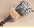 Lakota Indian Prayer Fan -Cinnamon Bear Fur  (fan10)