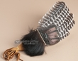 "Lakota Prayer Fan 15"" -Black Bear Hair"
