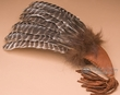 "Lakota Sioux Buffalo Hair Smudging Prayer Fan 20""  (f13)"
