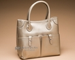 Large Designer Fashion Purse -Pewter  (p444)