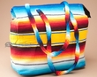 Large Flat Bottom Serape Purse  (p31)