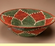 "Large Hand Woven Palm Leaf Basket 26.5""  (mt7a)"