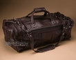 "Large Cowhide Leather Duffle Bag 22"" -Brown (4)"