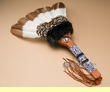 "Large Native American Pow Wow Fan 22"" -Creek  (f80)"