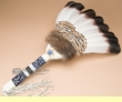 "Large Native American Pow Wow Fan 23"" -Creek  (f80)"