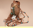 "Large Native American Turtle Shell Bag 5.5"" -Creek  (30)"