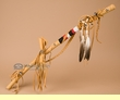 "Tigua Indian Beaded Medicine Stick 30""  (ds2c)"