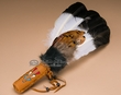 "Leather Handled Smudging Fan 14"" -Shoshone"