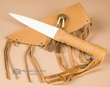 "Left Handed Native Bone Knife 13"" -Saddle  (k49)"