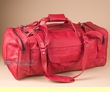 "Luxurious Leather Duffle Bag 22"" -Red  (b454)"