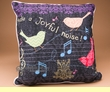 Make A Joyful Noise Song Bird Pillow 18x18  (p52)